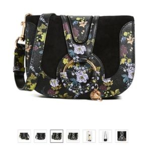 See by Chloe Black Floral Hana Crossbody